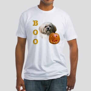 Lhasa Apso Boo Fitted T-Shirt