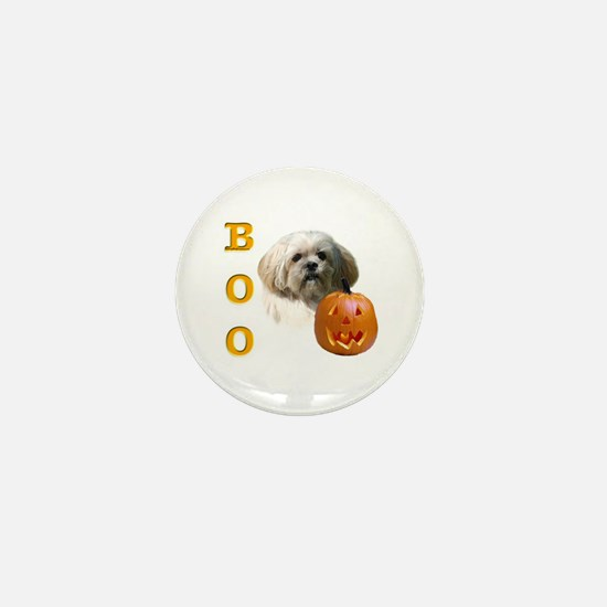 Lhasa Apso Boo Mini Button