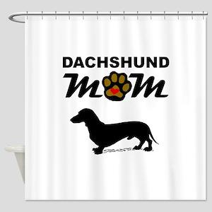 Dachshund Mom Shower Curtain