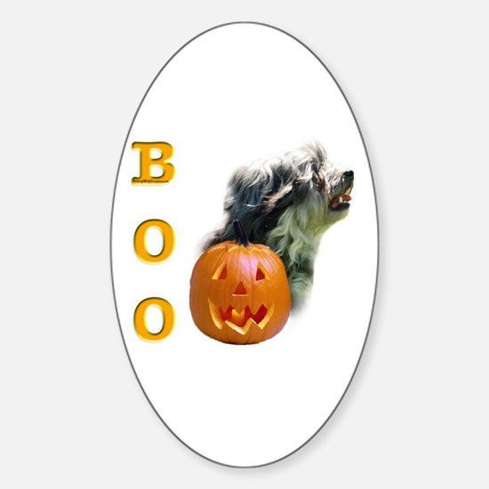 Lowchen Boo Oval Decal