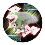 WooFPAK Heroes Joker JAG Round Car Magnet