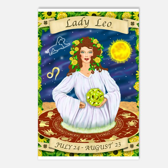 Lady Leo Postcards (Package of 8)
