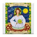 Lady Leo Tile Coaster