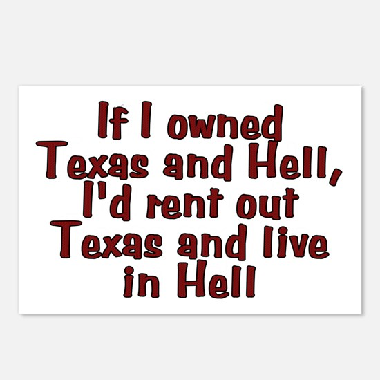 If I owned Texas and Hell Postcards (Package of 8)