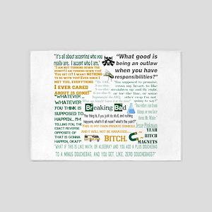 Jesse Pinkman Quotes 5'x7'Area Rug