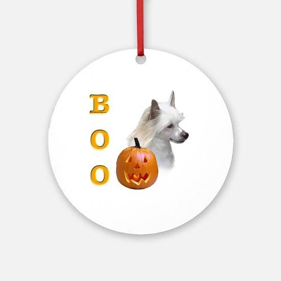 Powder Crested Boo Ornament (Round)