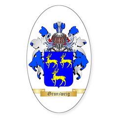 Grunzweig Sticker (Oval)