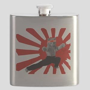 Ninja Kitten Flask