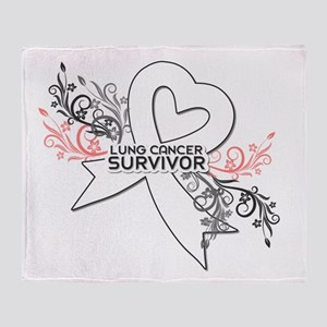 lUNG CANCER Throw Blanket