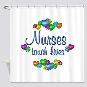 Nurses Touch Lives Shower Curtain