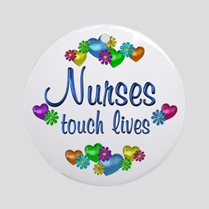 Nurses Touch Lives Ornament (Round)