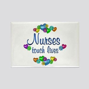 Nurses Touch Lives Rectangle Magnet