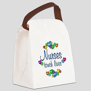 Nurses Touch Lives Canvas Lunch Bag