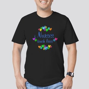 Nurses Touch Lives Men's Fitted T-Shirt (dark)