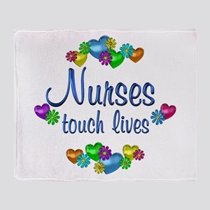 Nurses Touch Lives Throw Blanket