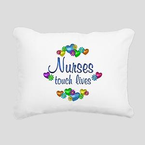 Nurses Touch Lives Rectangular Canvas Pillow