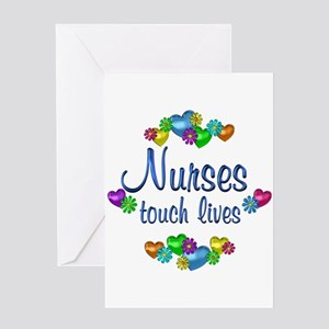 Nurses Touch Lives Greeting Card