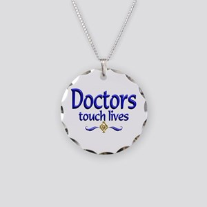Doctors Touch Lives Necklace Circle Charm