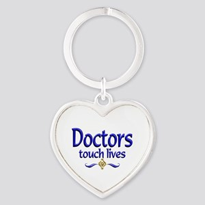 Doctors Touch Lives Heart Keychain