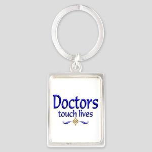 Doctors Touch Lives Portrait Keychain