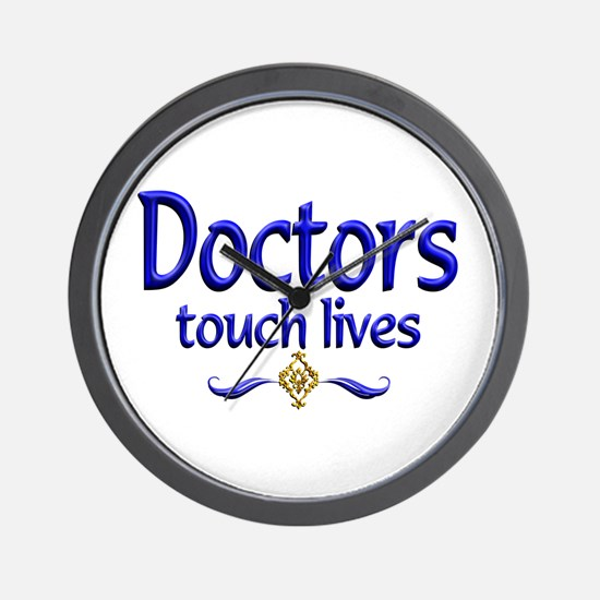 Doctors Touch Lives Wall Clock