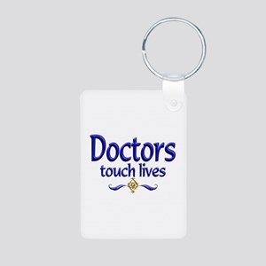 Doctors Touch Lives Aluminum Photo Keychain