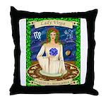 Lady Virgo Throw Pillow