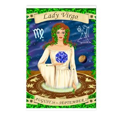 Lady Virgo Postcards (Package of 8)
