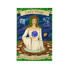 Lady Virgo Rectangle Magnet