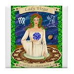 Lady Virgo Tile Coaster