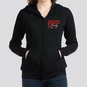 Boss Lady High Heel Design Women's Zip Hoodie