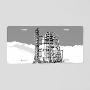 Saturn V Aluminum License Plate