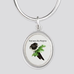 Real Men Like Magpies Humor Bird Quote Necklaces