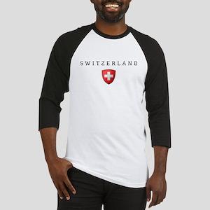 Switzerland Shield-Dark Baseball Jersey