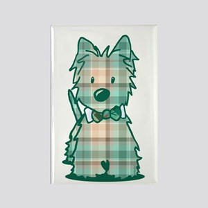 Plaid KiniArt Westie Bo Rectangle Magnet