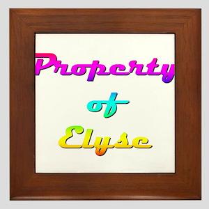 Property Of Elyse Female Framed Tile