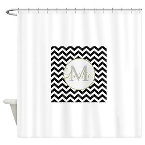 Black And White Chevron Shower Curtains