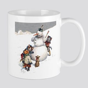 Kittens Play in The Snow Mug