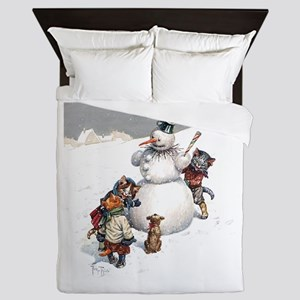 Kittens Play in The Snow Queen Duvet