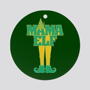 Mama Elf Ornament (Round)