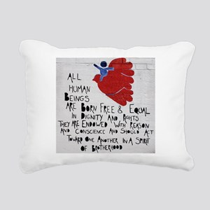 All Human Beings Rectangular Canvas Pillow