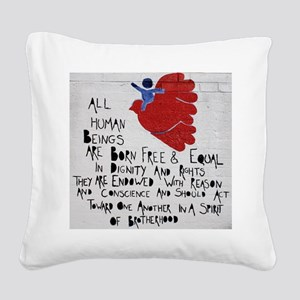 All Human Beings Square Canvas Pillow
