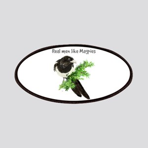 Real men like Magpies Humor Bird Quote Patches