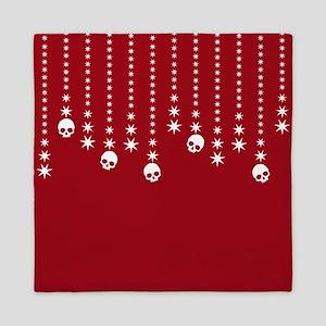 Skull Dangles Christmas Red Queen Duvet