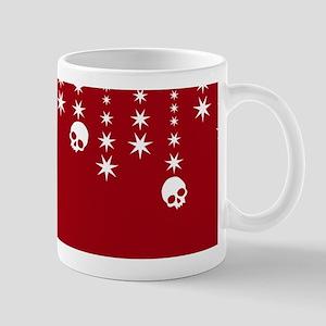 Skull Dangles Christmas Red Mug