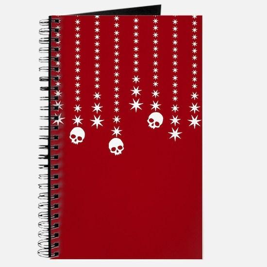 Skull Dangles Christmas Red Journal