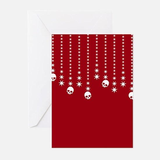 Skull Dangles Christmas Greeting Cards (Pk of 10)