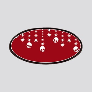Skull Dangles Christmas Red Patches