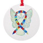 Puzzle Ribbon Angel Ornament