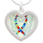 Puzzle Ribbon Angel Necklaces